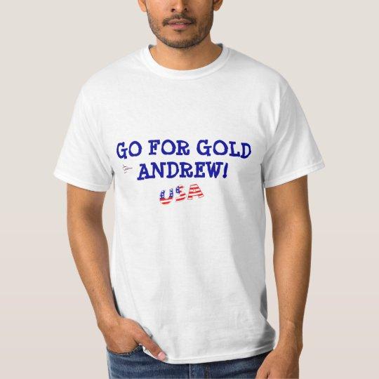 USA logo GO FOR GOLD ANDREW T-SHIRT