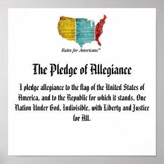 USA Logo Pledge of Allegiance Poster