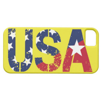 USA Logo, Yellow iPhone 5/5S Case, Barely There Case For The iPhone 5