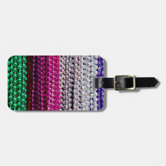 USA, Louisiana, New Orleans. Mardi Gras Beads Luggage Tag