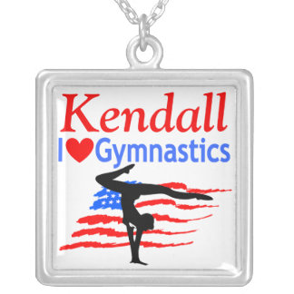 USA LOVE GYMNASTICS PERSONALIZED NECKLACE