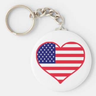 USA Love Keychain