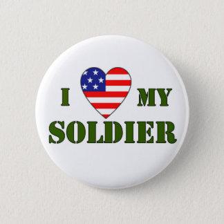USA-LOVE MY SOLDIER 2 INCH ROUND BUTTON
