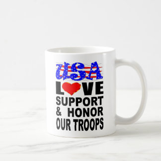 USA Love Support And Honor Our Troops Coffee Mug