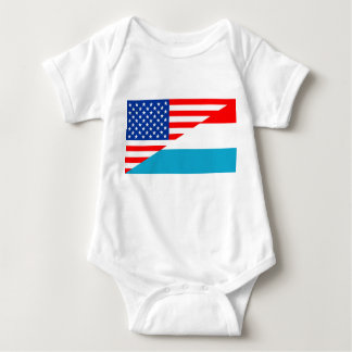 usa luxembourg country half flag america symbol baby bodysuit