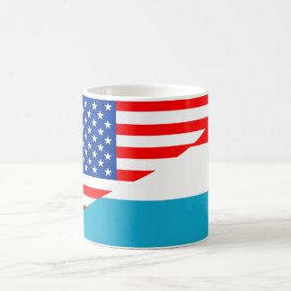 usa luxembourg country half flag america symbol coffee mug