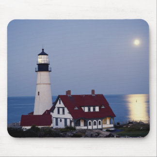USA, Maine, Portland, Cape Elizabeth, Lighthouse Mouse Pad