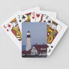 USA, Maine, Portland, Cape Elizabeth, Lighthouse Playing Cards