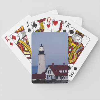 USA, Maine, Portland, Cape Elizabeth, Lighthouse Playing Cards