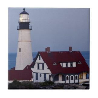 USA, Maine, Portland, Cape Elizabeth, Lighthouse Tiles