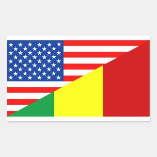 usa mali country half flag america symbol