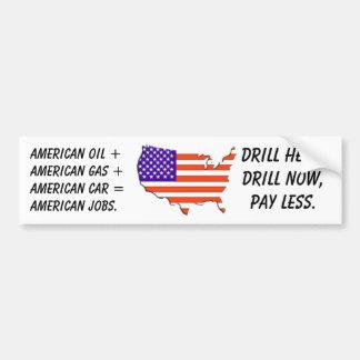 usa-map-flag, American oil +American gas +Ameri... Bumper Sticker