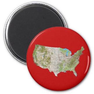USA Map Magnet