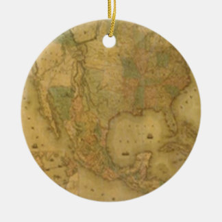 USA Map Ornament