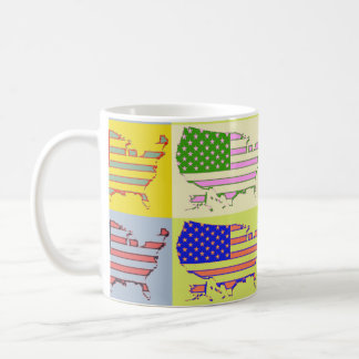 USA Map - Pop Coffee Mug
