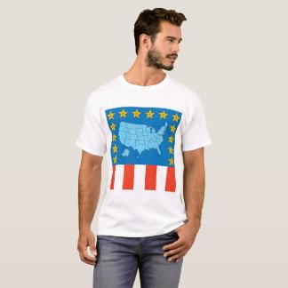 USA Map, Stars and Flag TShirt
