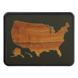 USA map Trailer Hitch Cover