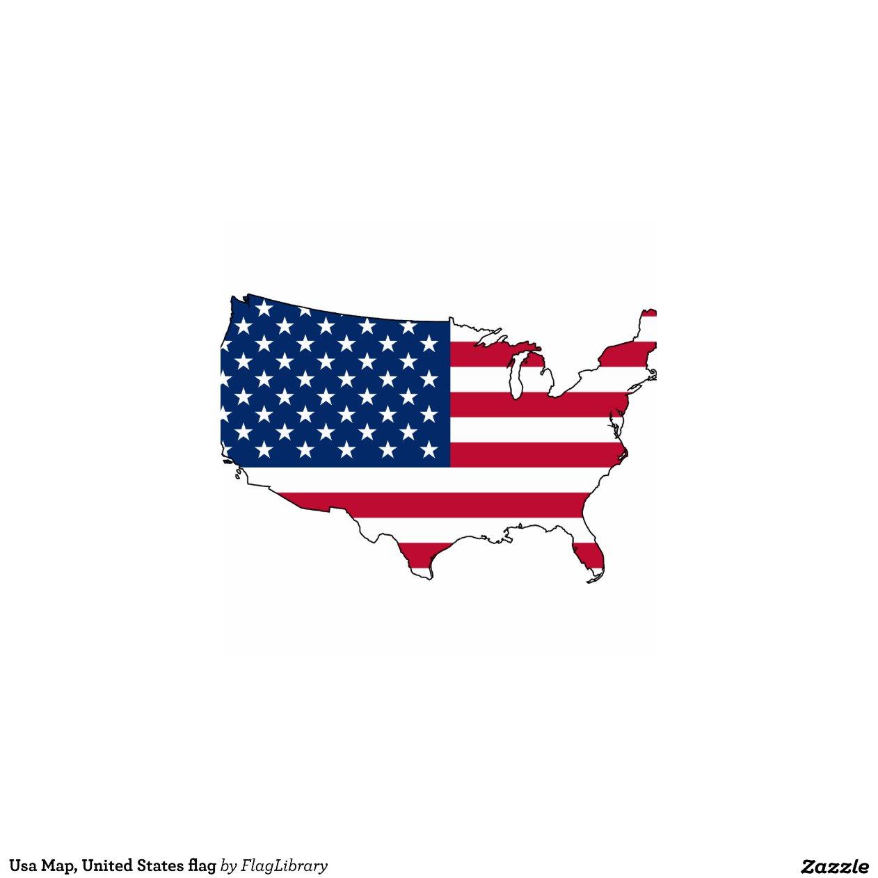 Usa Map United States Flag Zazzle