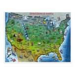 USA Map Z Postcard