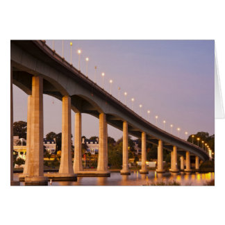 USA, Maryland, Annapolis. Severn River bidge, Card