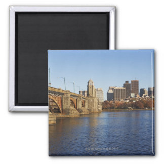 USA, Massachusetts, Boston skyline 2 Magnet