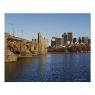 USA, Massachusetts, Boston skyline 2 Poster