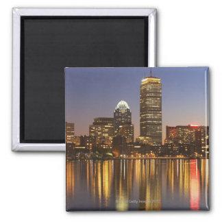 USA, Massachusetts, Boston skyline at dusk 2 Magnet