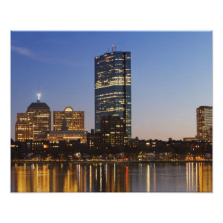 USA, Massachusetts, Boston skyline at dusk Poster