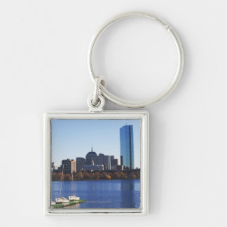 USA, Massachusetts, Boston skyline Silver-Colored Square Keychain