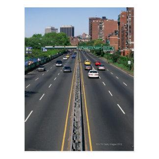 USA, Massachusetts, Boston, traffic on Storrow Postcard