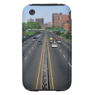 USA, Massachusetts, Boston, traffic on Storrow Tough iPhone 3 Covers