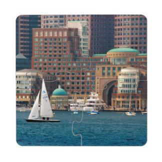 USA, Massachusetts. Boston Waterfront Skyline 2 Puzzle Coaster