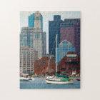 USA, Massachusetts. Boston Waterfront Skyline Jigsaw Puzzle