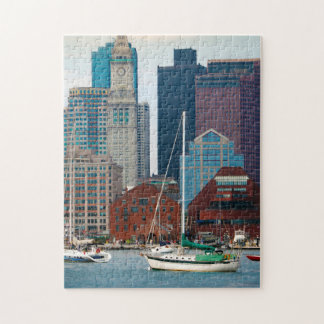 USA, Massachusetts. Boston Waterfront Skyline Jigsaw Puzzle