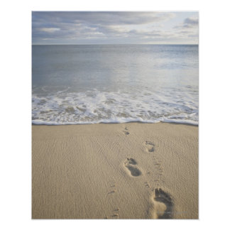 USA, Massachusetts, Cape Cod, footprints on Poster