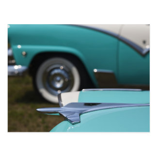 USA, Massachusetts, Gloucester. 1950s-era Ford Postcard