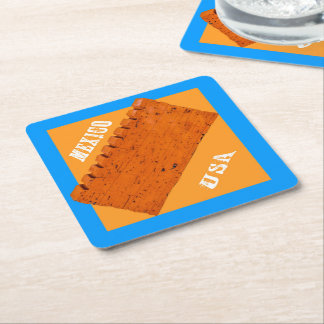 USA-MEXICO BORDER WALL For bourbon drinkers Square Paper Coaster
