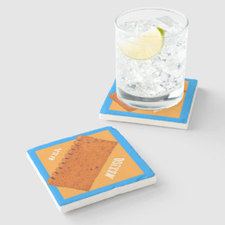 USA-MEXICO BORDER WALL For tequila drinkers Stone Coaster