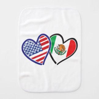 USA---Mexico-Love-2 Baby Burp Cloths
