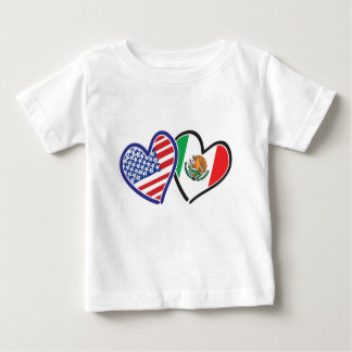 USA---Mexico-Love-2 Baby T-Shirt