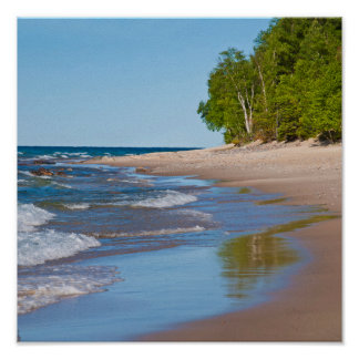 USA, Michigan. 12 Mile Beach Poster