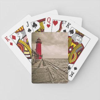 USA, Michigan, Grand Haven Lighthouse Poker Deck