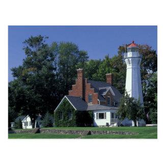 USA, Michigan, Lake Huron. Port Sanilac Postcard
