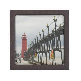 USA, Michigan, Lake Michigan Shore, Grand Haven: Premium Trinket Boxes
