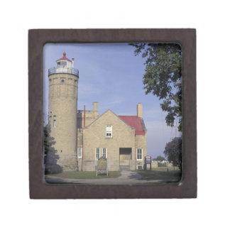 USA, Michigan Old Mackinac Point Lighthouse Premium Trinket Box