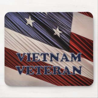 USA Military Patriotic Flag Vietnam Veteran Mouse Pad