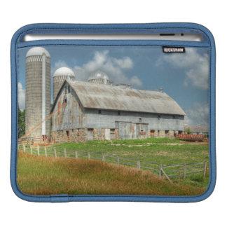 USA, Minnesota Barn And Silo iPad Sleeves