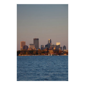 USA, Minnesota, Minneapolis, City Skyline Poster