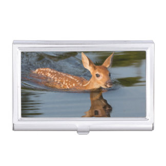 USA, Minnesota, Sandstone, Minnesota Wildlife 19 Business Card Case