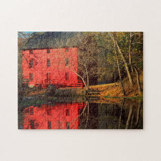 USA, Missouri, Alley Mill At Alley Spring Ozark Jigsaw Puzzle